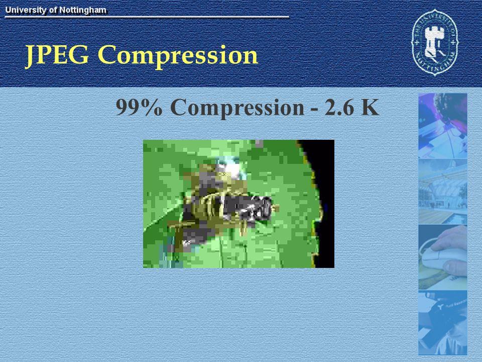 JPEG Compression 99% Compression - 2.6 K