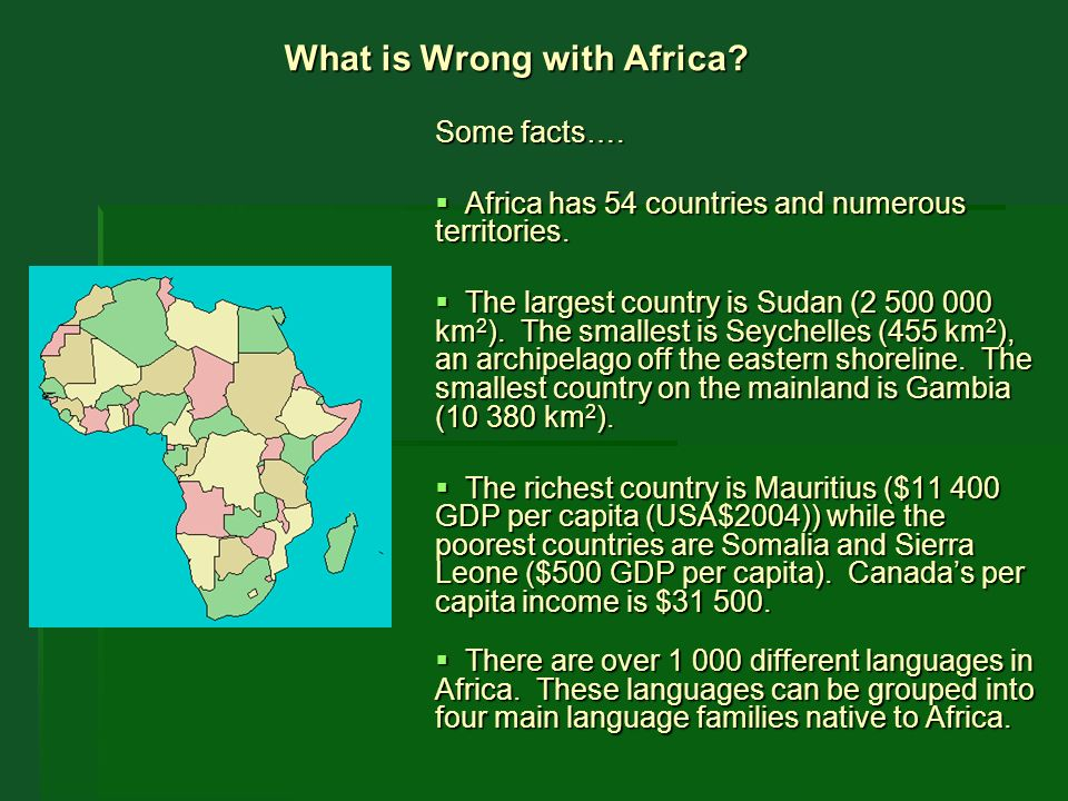 What Is Wrong With Africa When We Look At Africaand The Amount - Smallest country in mainland africa