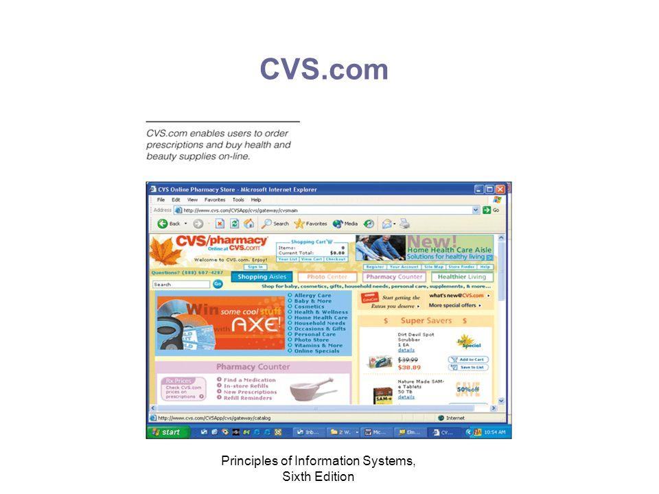 Principles of Information Systems, Sixth Edition CVS.com