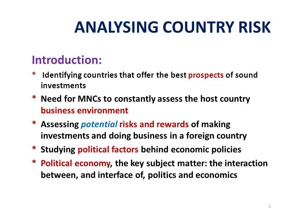 international finance country analysis