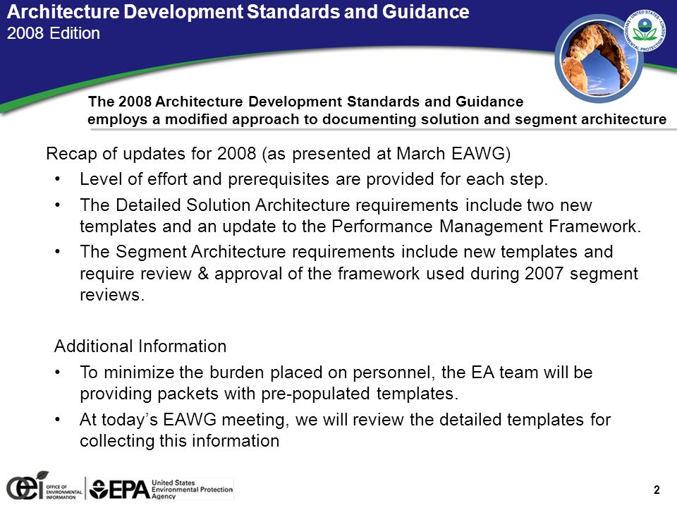 Un Ited States Environmental Protection Agency Office Of - Architecture prerequisites