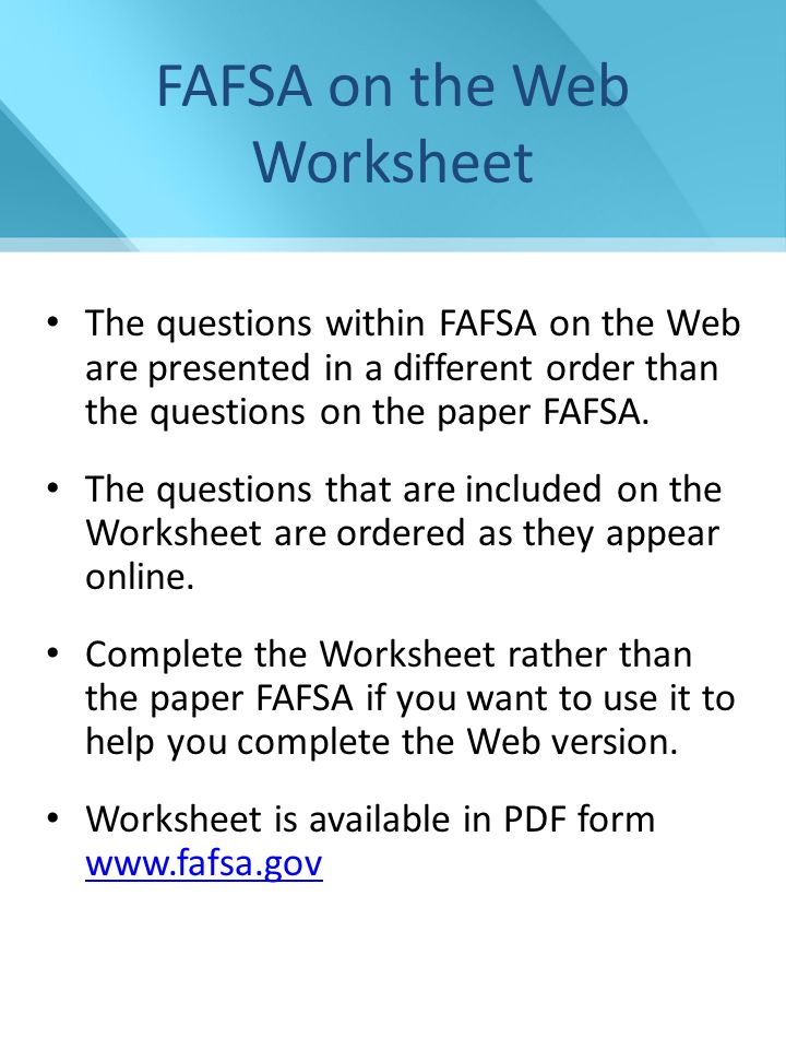 Financial Aid Presentation NCASFAA/ NCSEAA 1 Financial Aid for ...