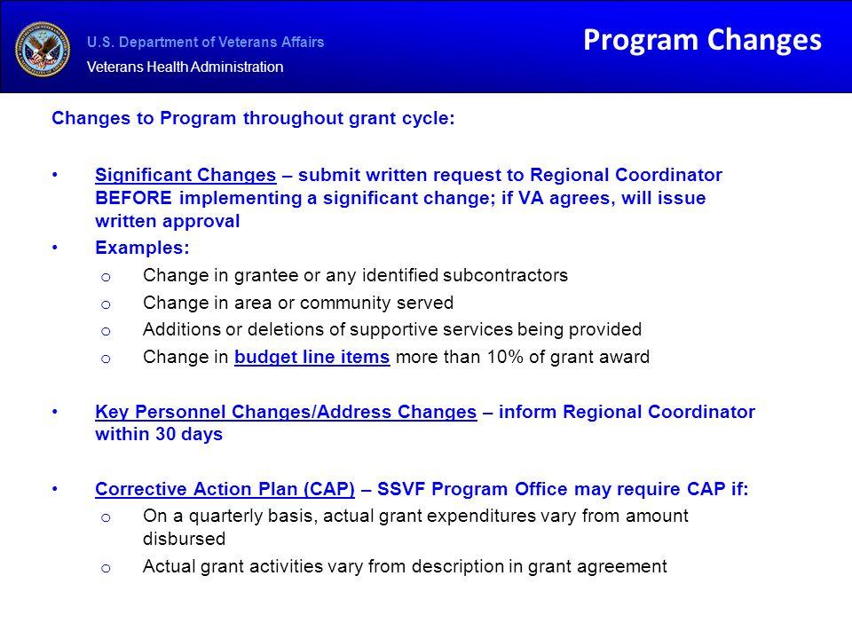 U.S. Department of Veterans Affairs Veterans Health Administration ...