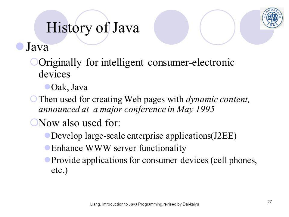 history of java programming