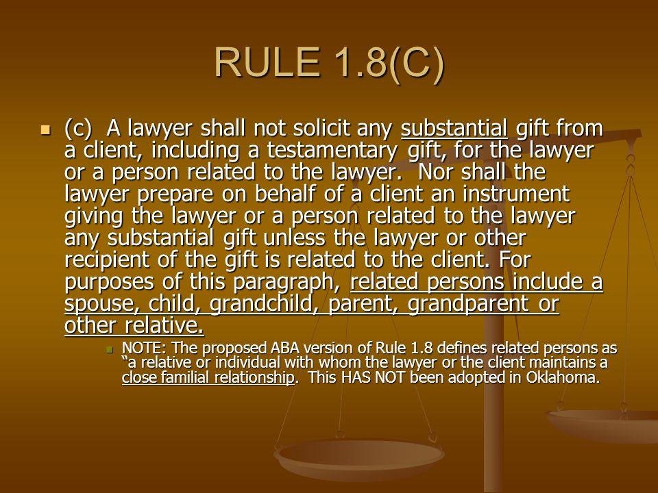 RECENT DEVELOPMENTS O.R.P.C. Gina Hendryx Ethics Counsel Oklahoma ...