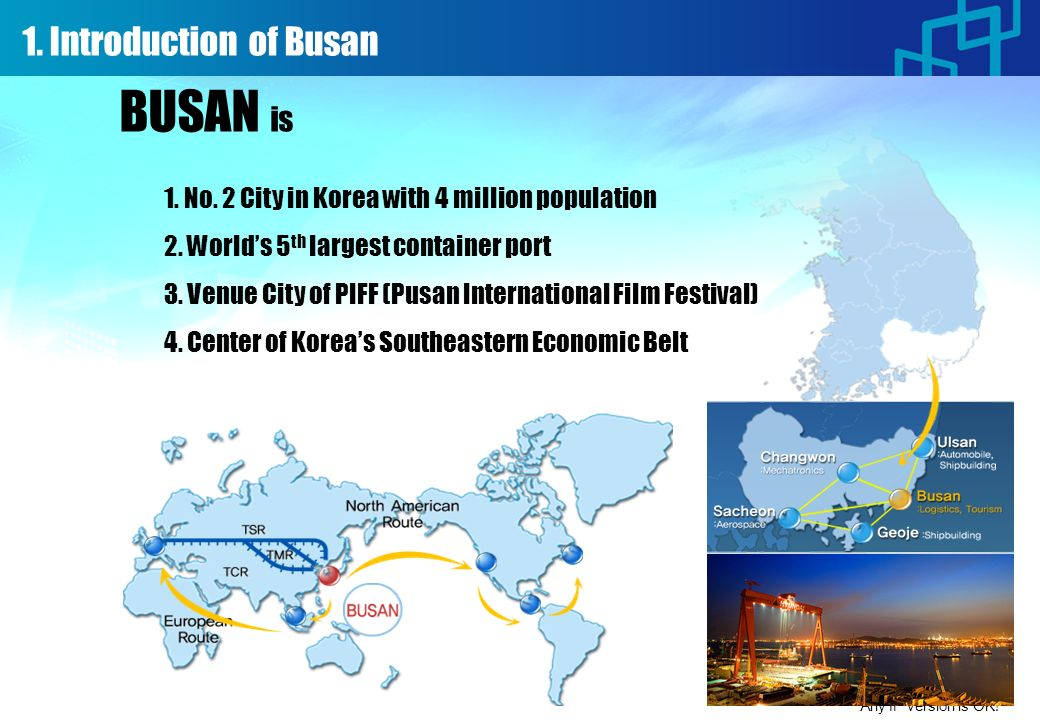 1. Introduction of Busan Any IP version is OK! 1.