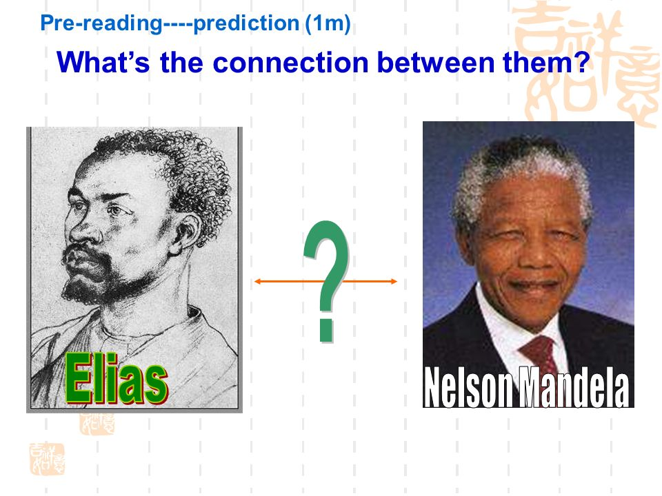 What's the connection between them Pre-reading----prediction (1m)
