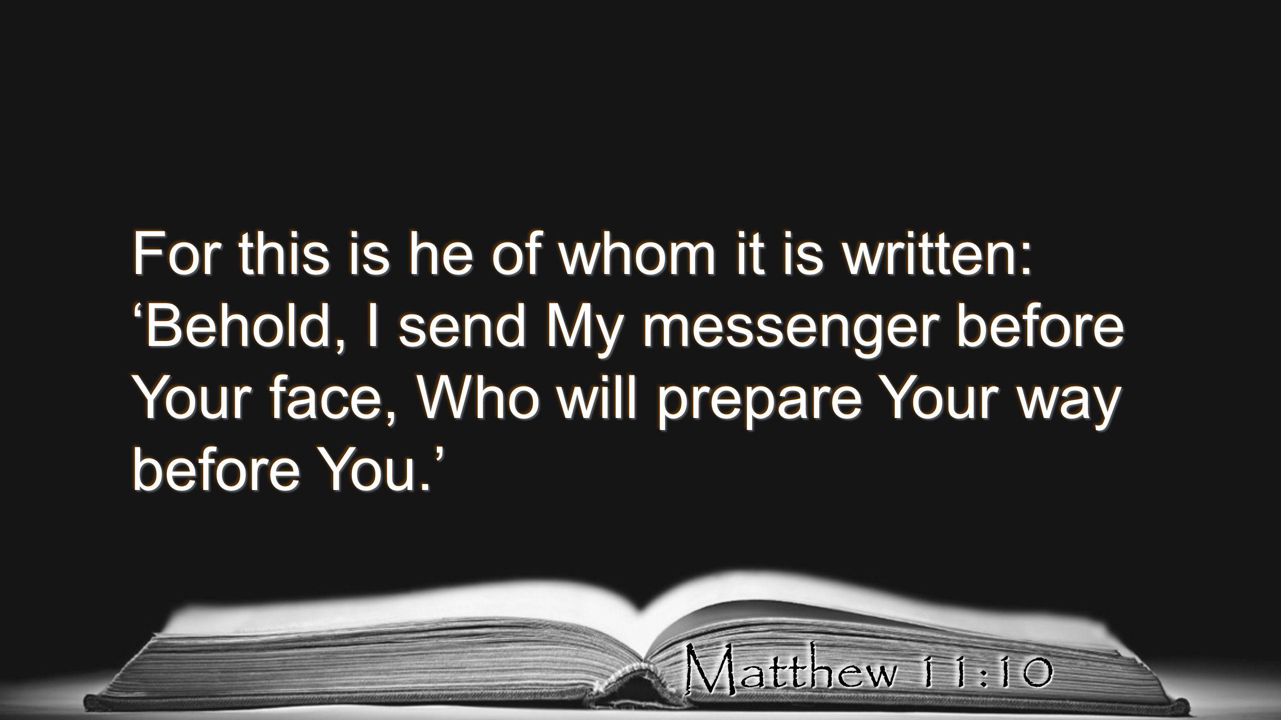 Bildresultat för Matthew 11:10