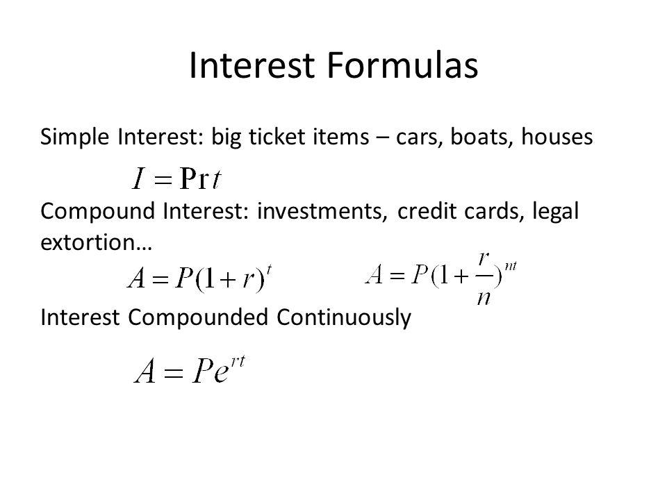 interest formulas