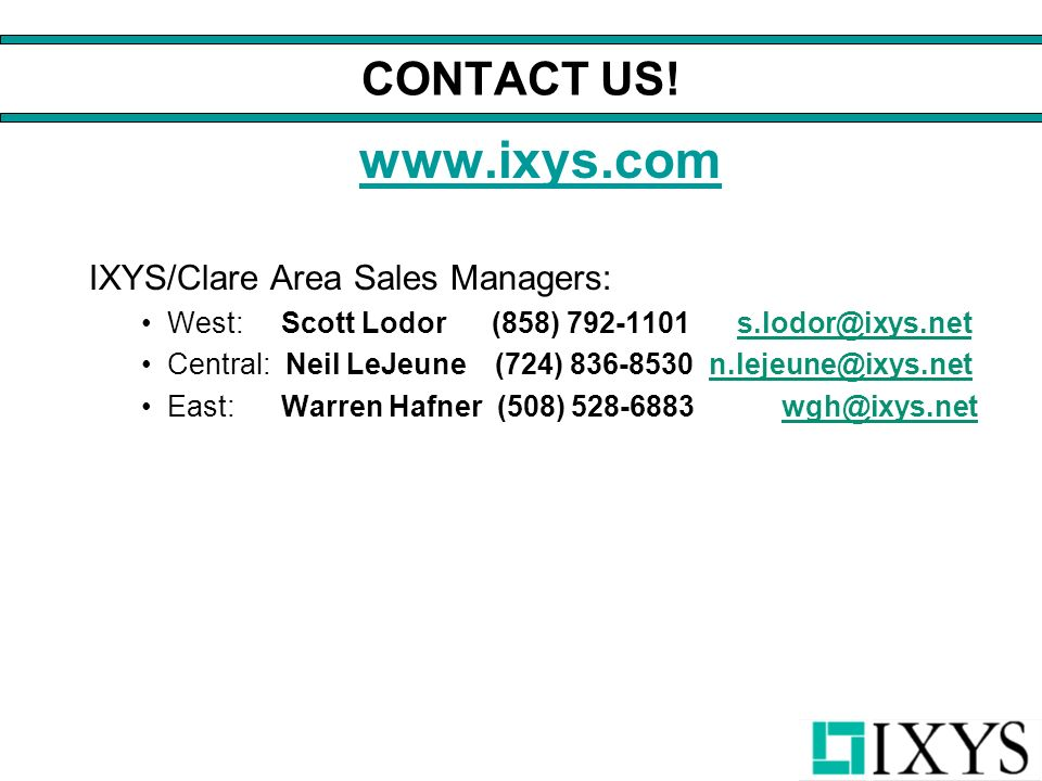 CONTACT US.