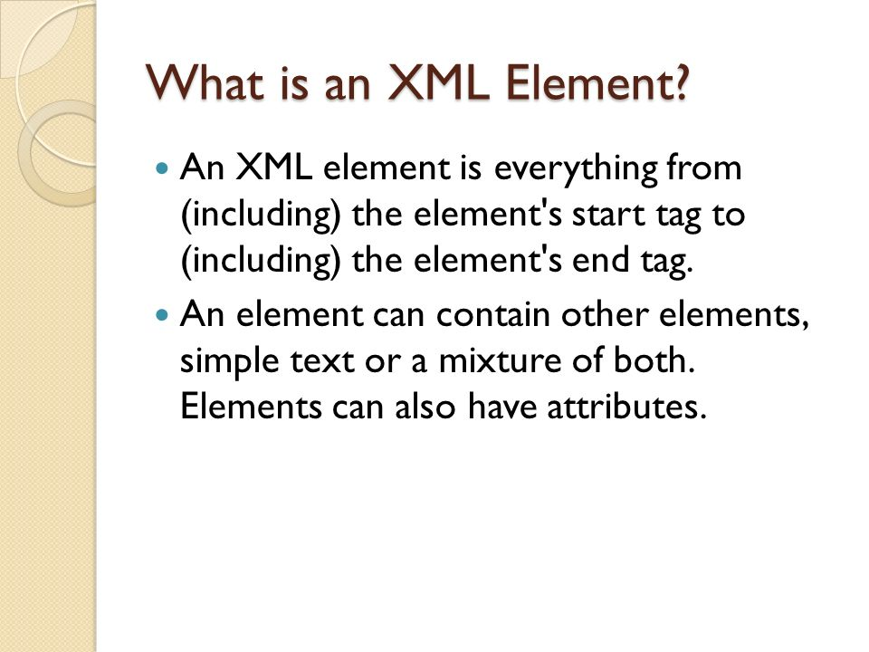 What is an XML Element.