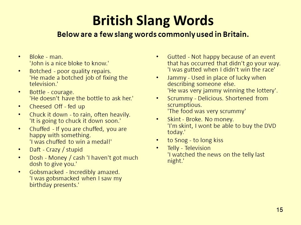 recipe: slang words meaning [33]