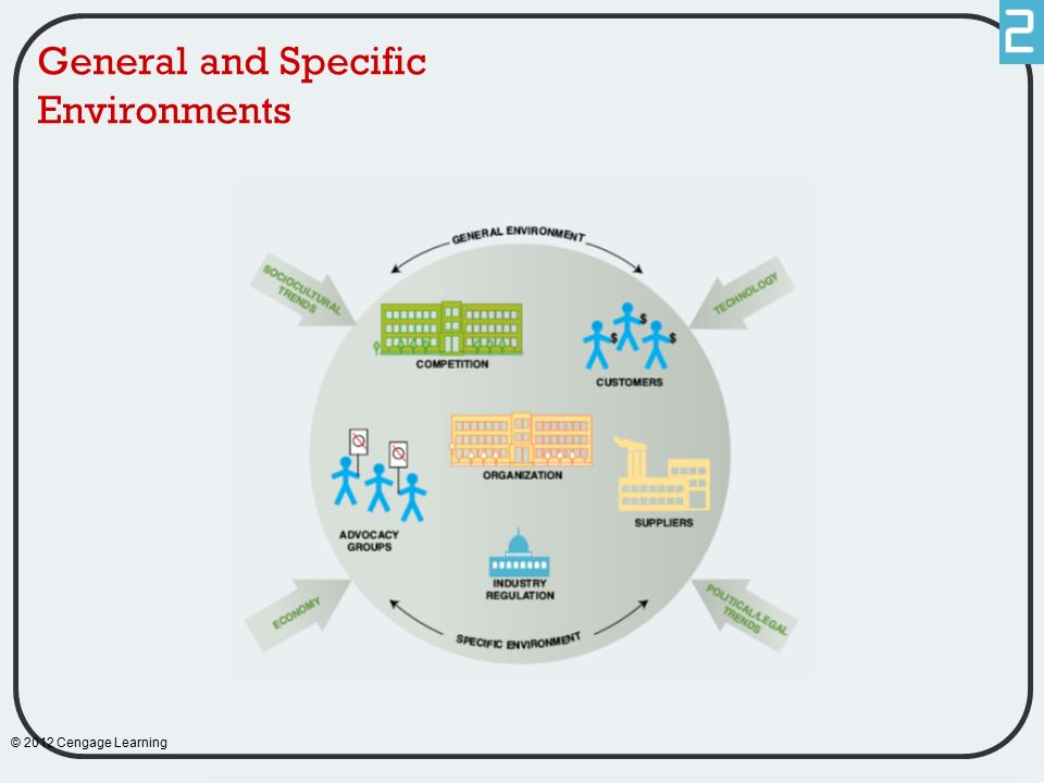 General and Specific Environments © 2012 Cengage Learning