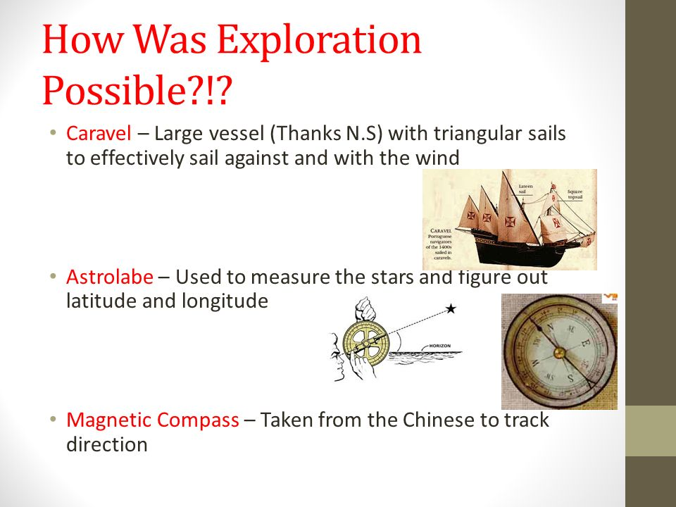 How Was Exploration Possible !.