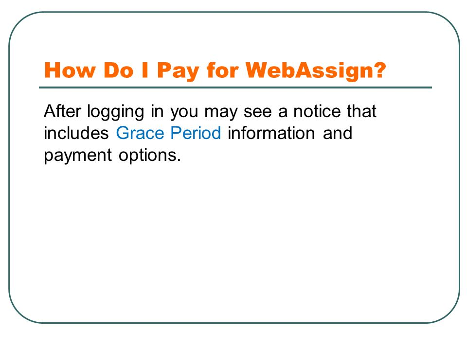 How Do I Pay for WebAssign.