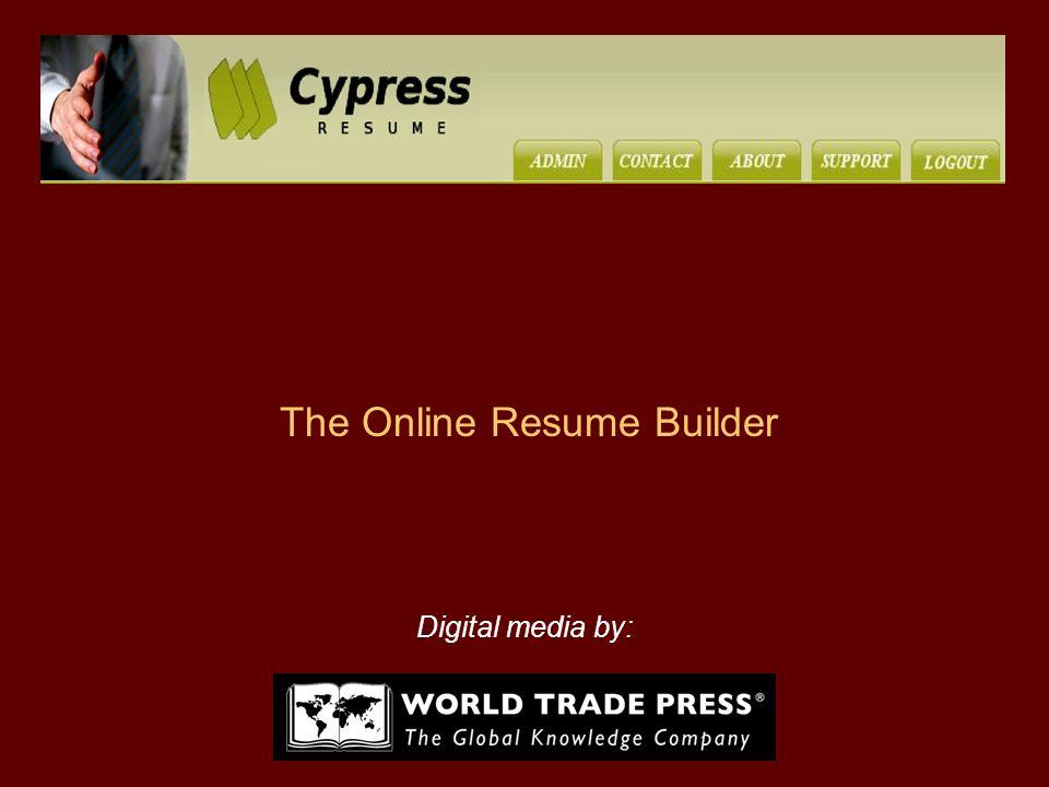 the online resume builder digital media by world trade press