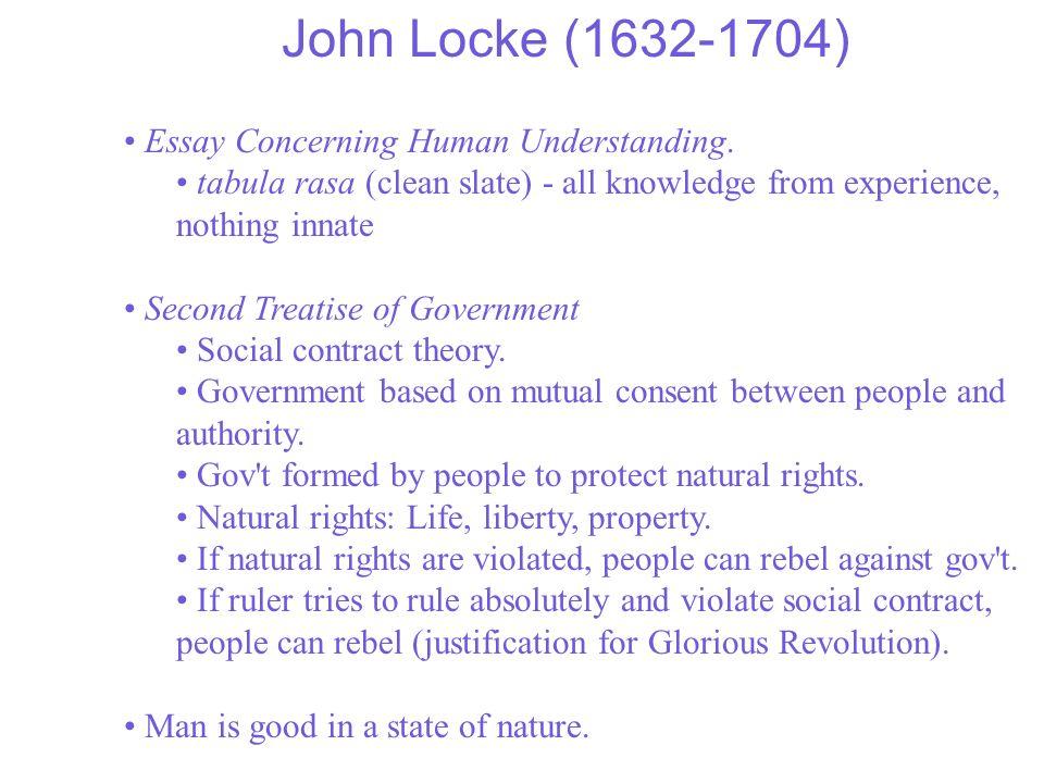 John Locke (1632-1704) Essay Concerning Human Understanding.