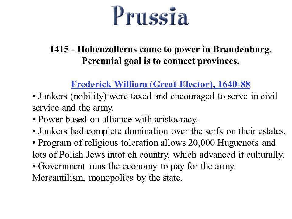 1415 - Hohenzollerns come to power in Brandenburg.