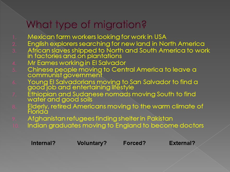 1. Mexican farm workers looking for work in USA 2.