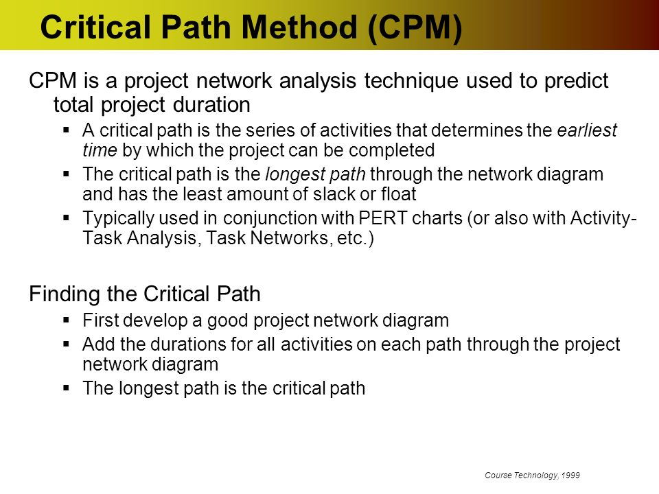 critical path analysis its use and
