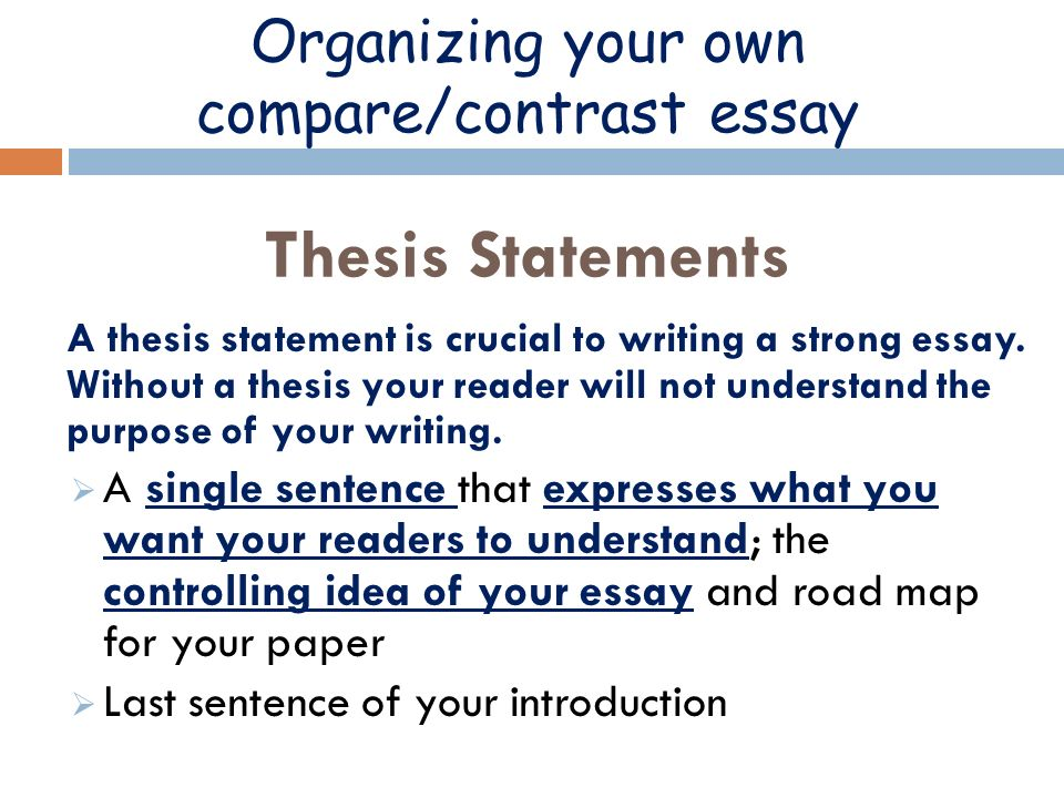 Organizational Styles  Definition Definition Describes  Organizing Your Own Comparecontrast Essay Thesis Statements A Thesis  Statement Is Crucial To Writing