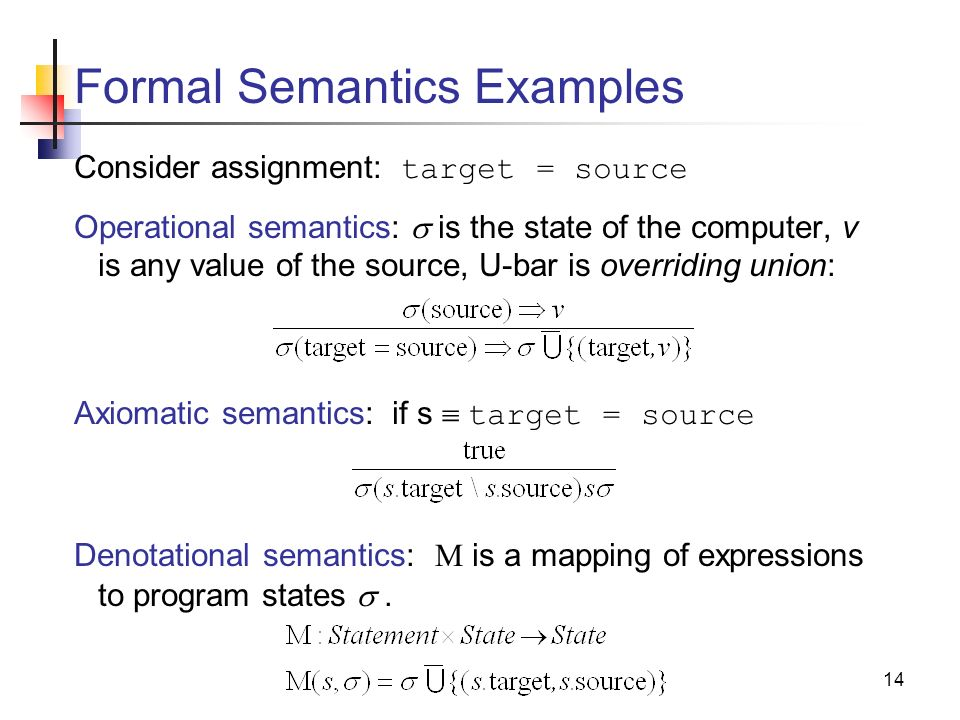 1 Introduction to Semantics The meaning of a language. - ppt download