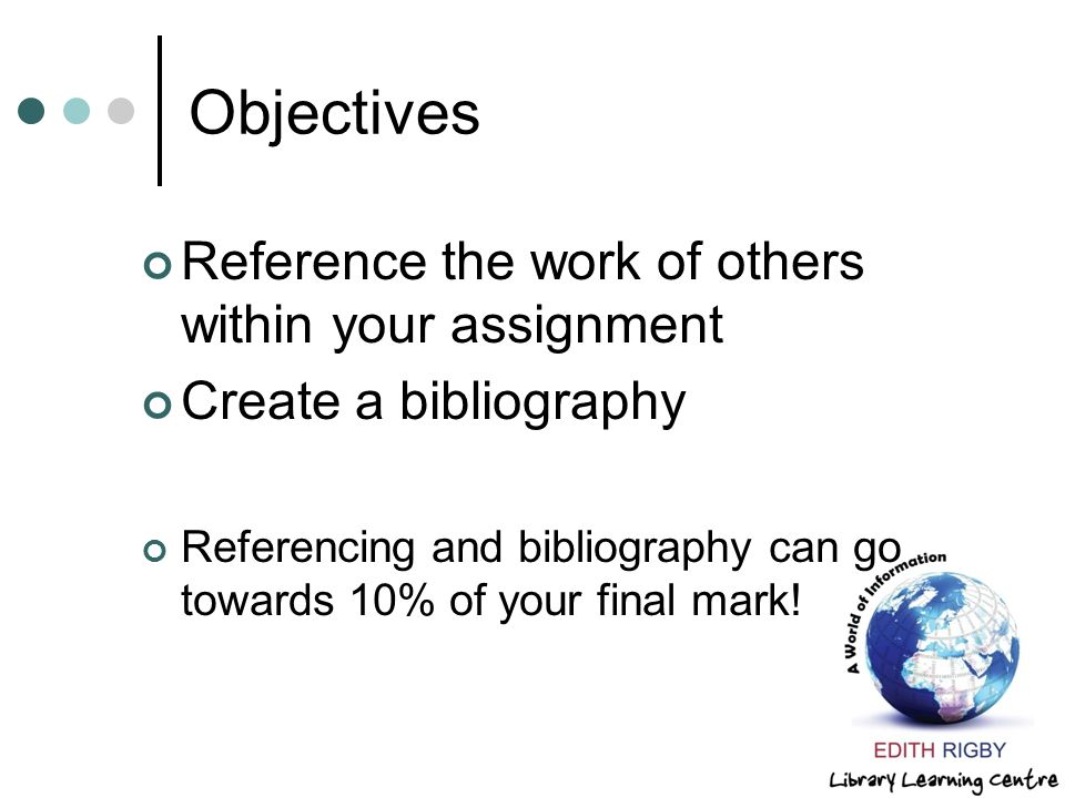 Bibliography assignment