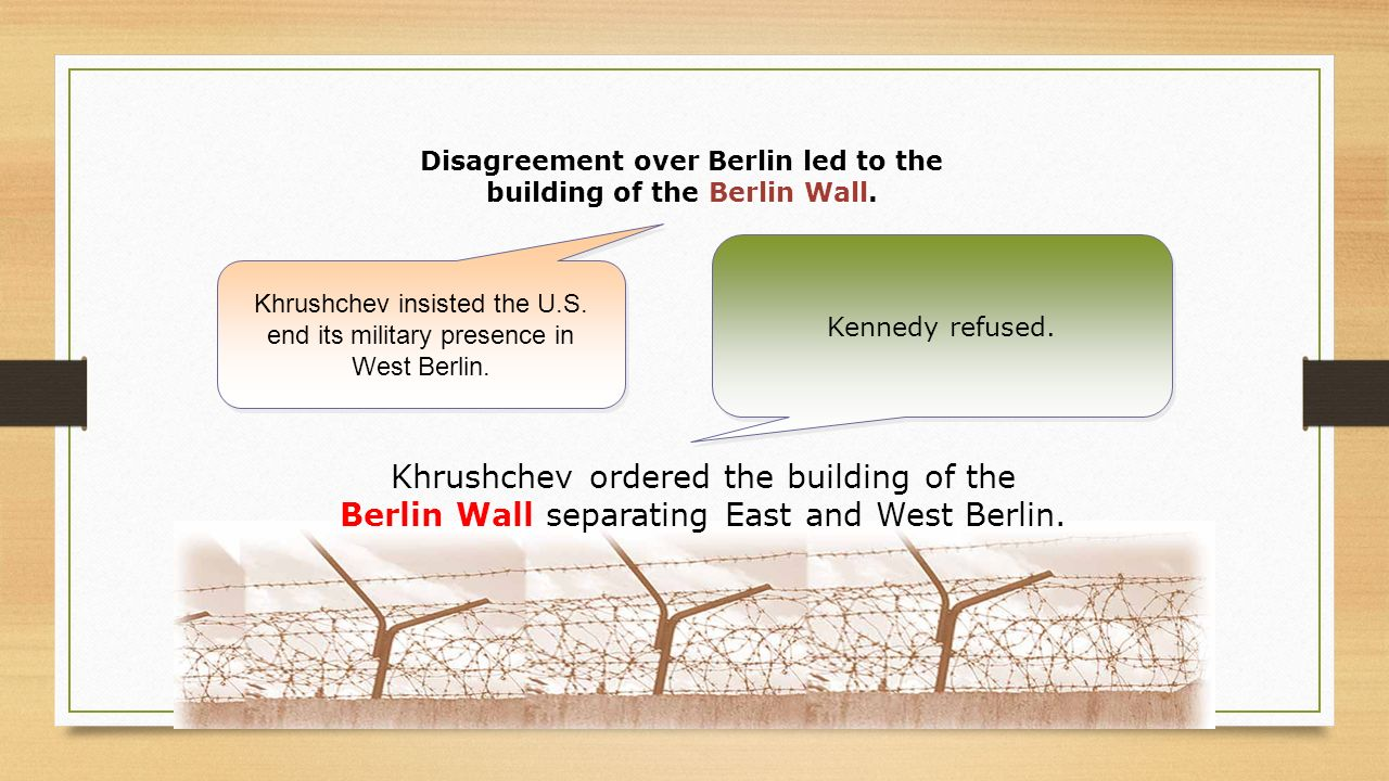 Disagreement over Berlin led to the building of the Berlin Wall.