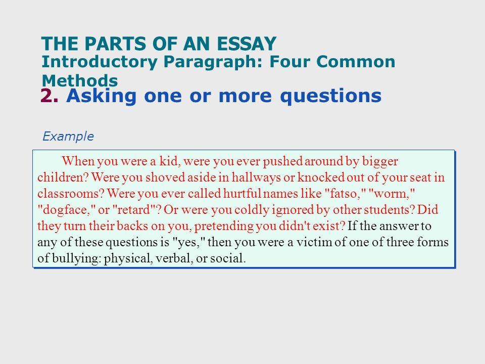 parts of essay quiz