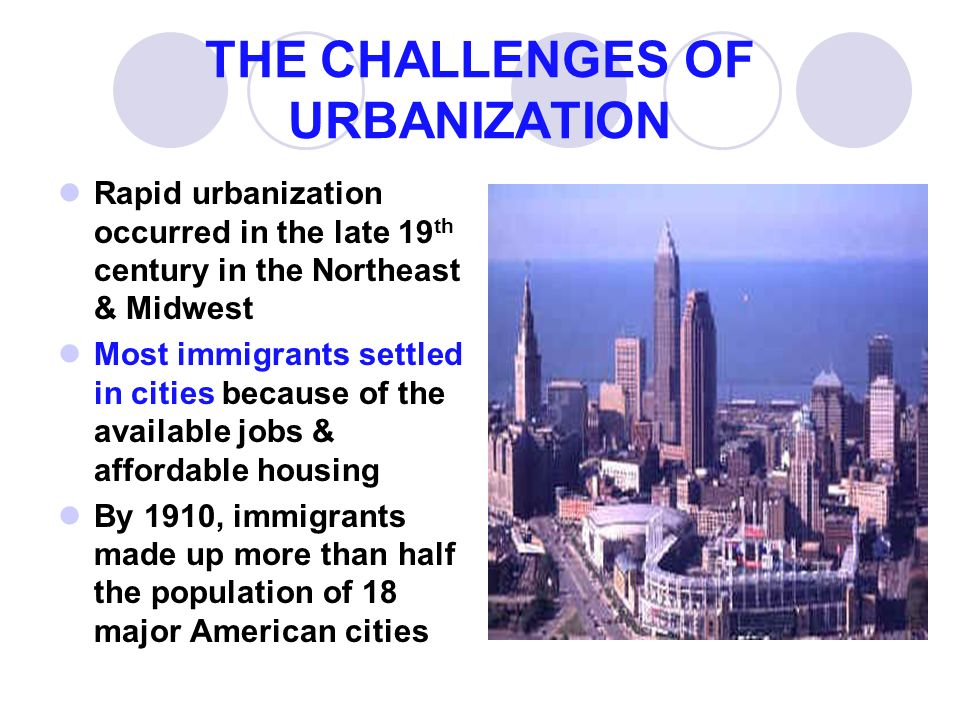 urbanization and immigration of america at the end of the 19th and 20th century