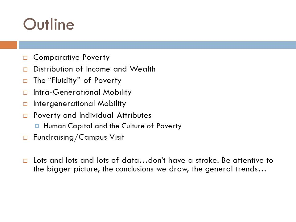 outline  comparative poverty  distribution of income and  1 outline  comparative poverty  distribution of income