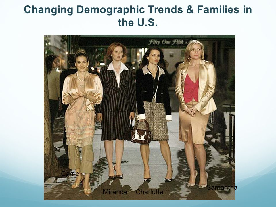 Changing Demographic Trends & Families in the U.S. Samantha CharlotteMiranda Carrie