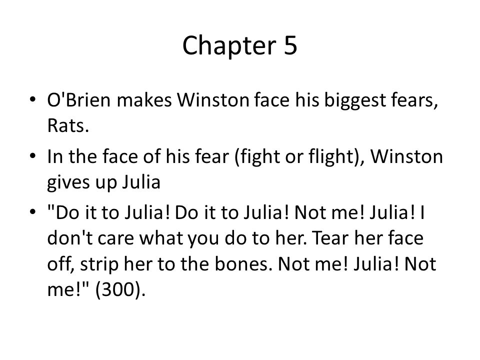In the novel 1984, was Julia the only person Winston told about his fear of rats?