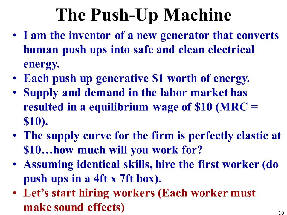 I am the inventor of a new generator that converts human push ups into safe and clean electrical energy.