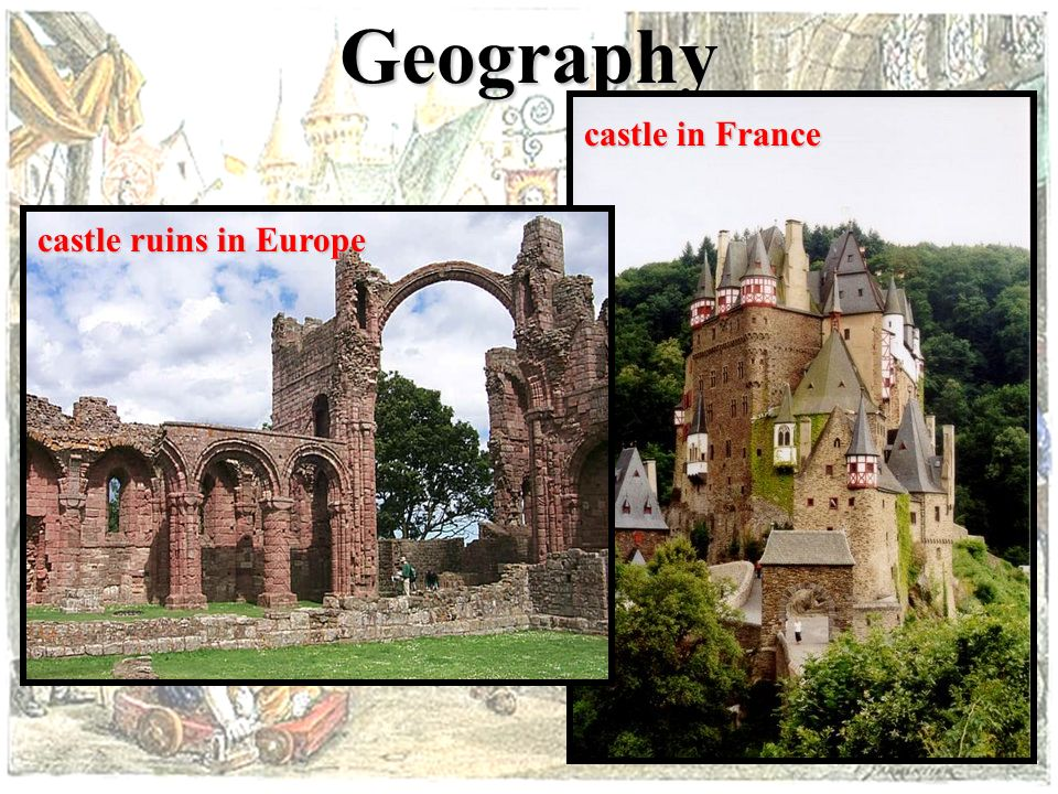 Geography A. Geography 1. All of Europe divided up into smaller towns and manors