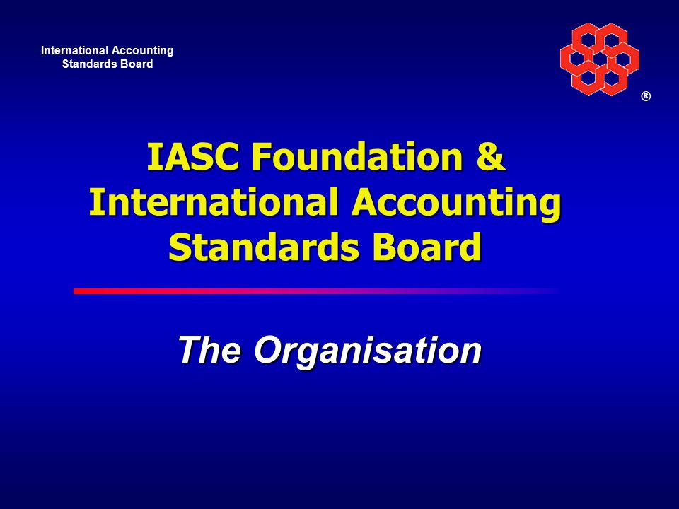 the international accounting standards committee foundation