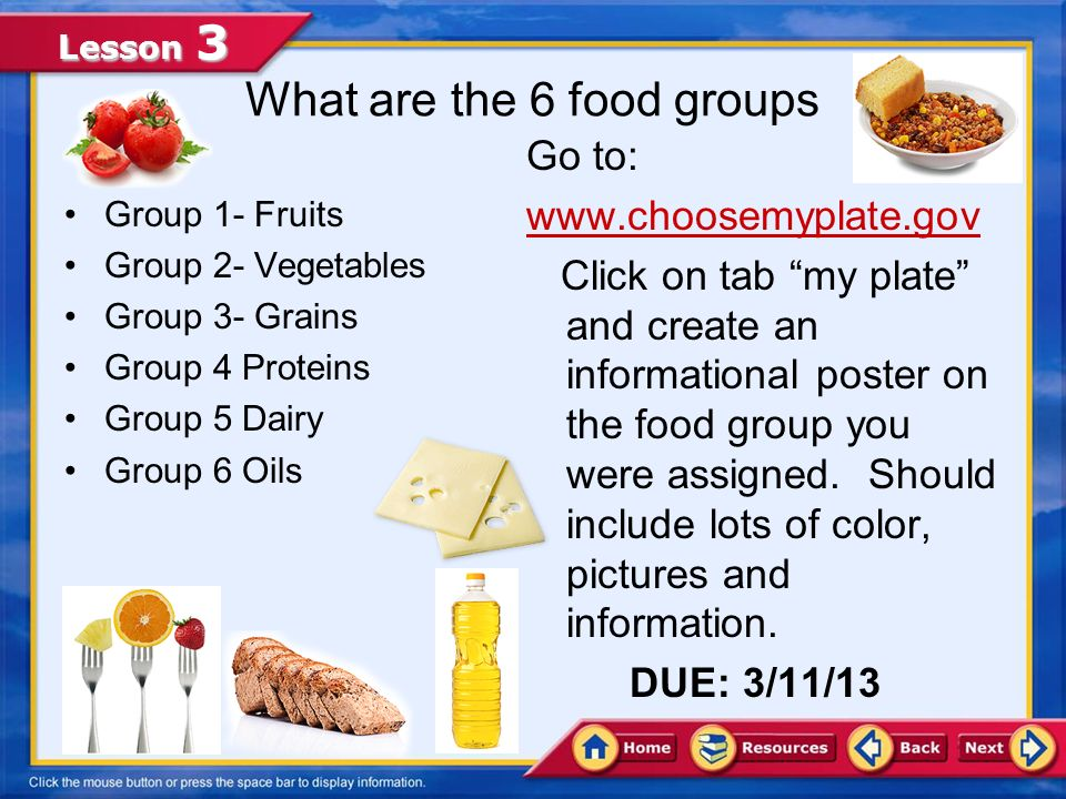 Lesson 3 Selecting Food from Every Food Group Making Smart Food Choices The best way create a balanced meal is by carefully choosing foods from every food group every day.