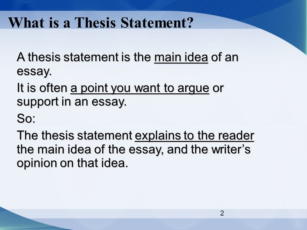 mla thesis statement