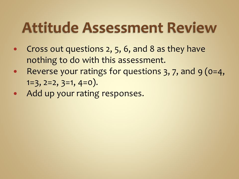 Cross out questions 2, 5, 6, and 8 as they have nothing to do with this assessment.