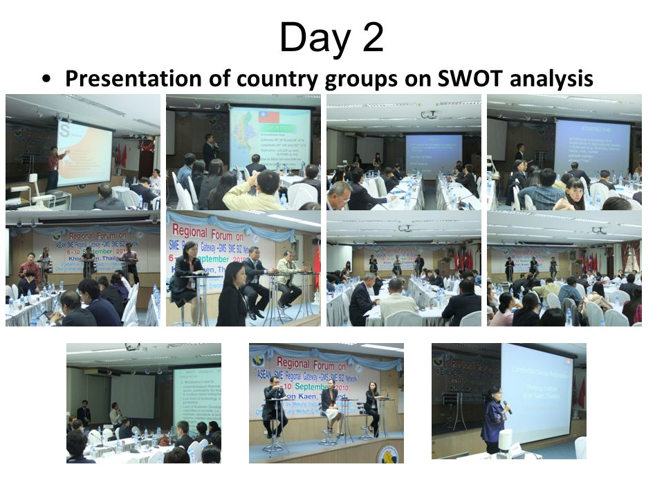 Day 2 Presentation of country groups on SWOT analysis