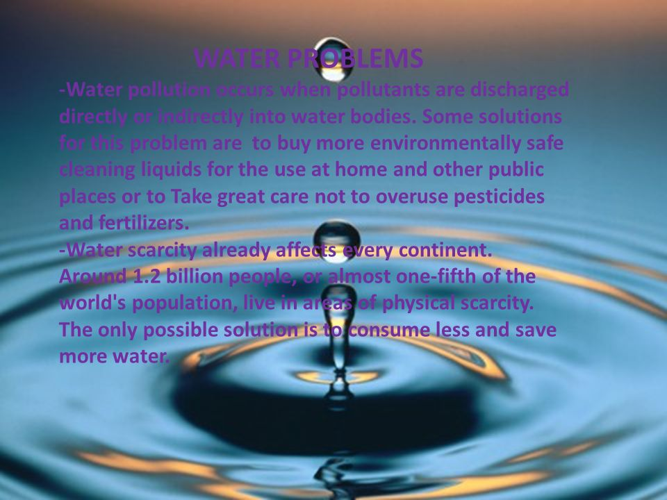 problem and solution essay about water pollution Preventing water pollution is always better than looking for solutions for the water pollution problem find out what you can do to prevent water pollution.