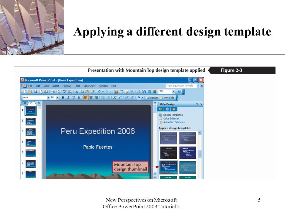 Xp new perspectives on microsoft office powerpoint 2003 tutorial 2 1 5 xp new perspectives on microsoft office powerpoint 2003 tutorial 2 5 applying a different design template toneelgroepblik