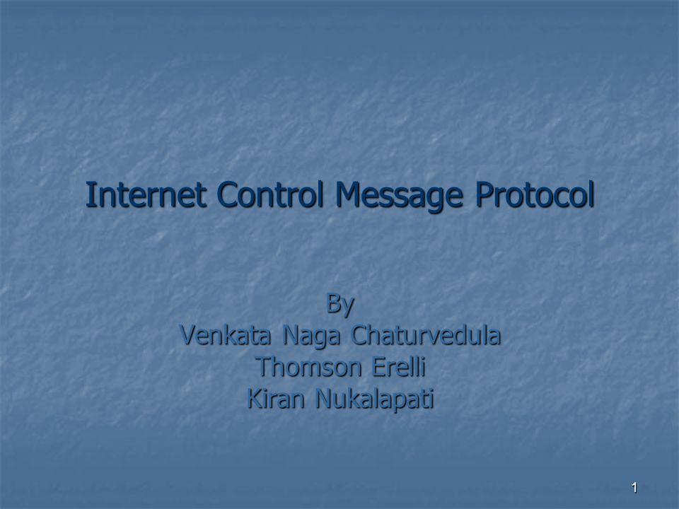 1 Internet Control Message Protocol By Venkata Naga Chaturvedula Thomson Erelli Kiran Nukalapati