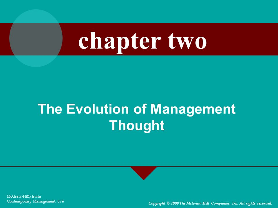 2-43 Management Science Theory –Total Quality Management (TQM) — focuses on analyzing input, conversion, and output activities to increase product quality.