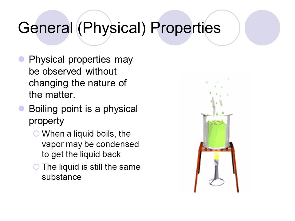 Properties of Matter Physical Properties, Phases of Matter, Chemical Properties