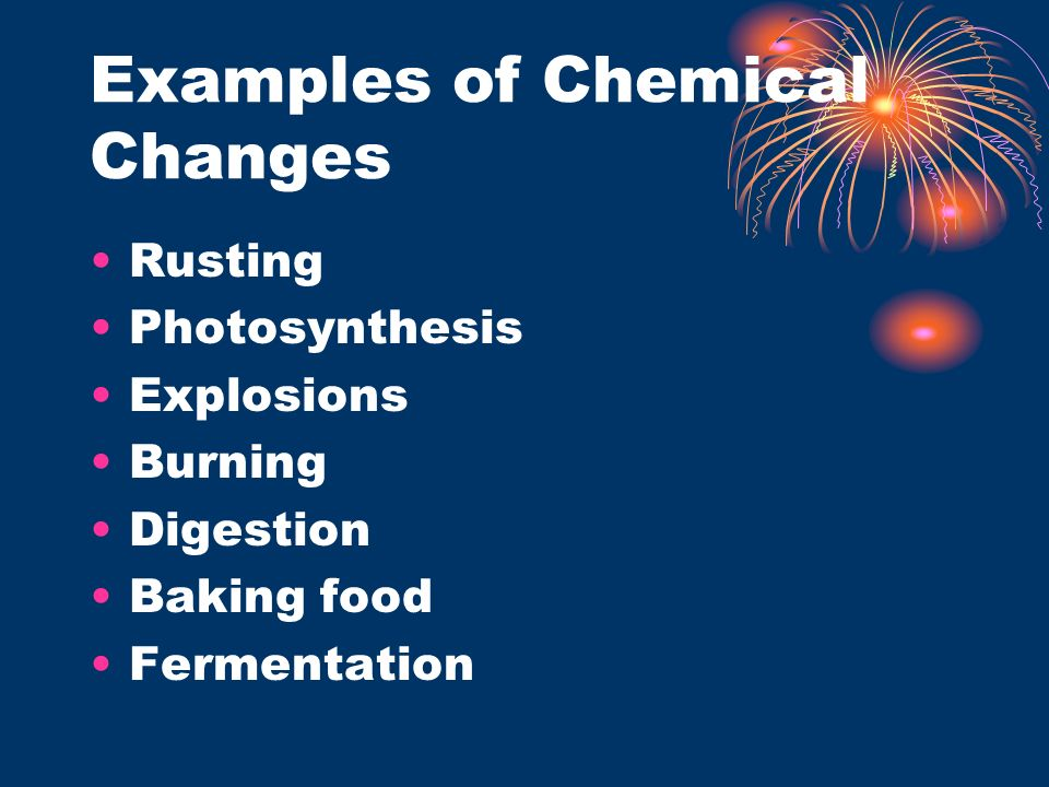 Examples of Chemical Properties Flammability Ability to support burning Ability to combine with other chemicals in a chemical reaction.