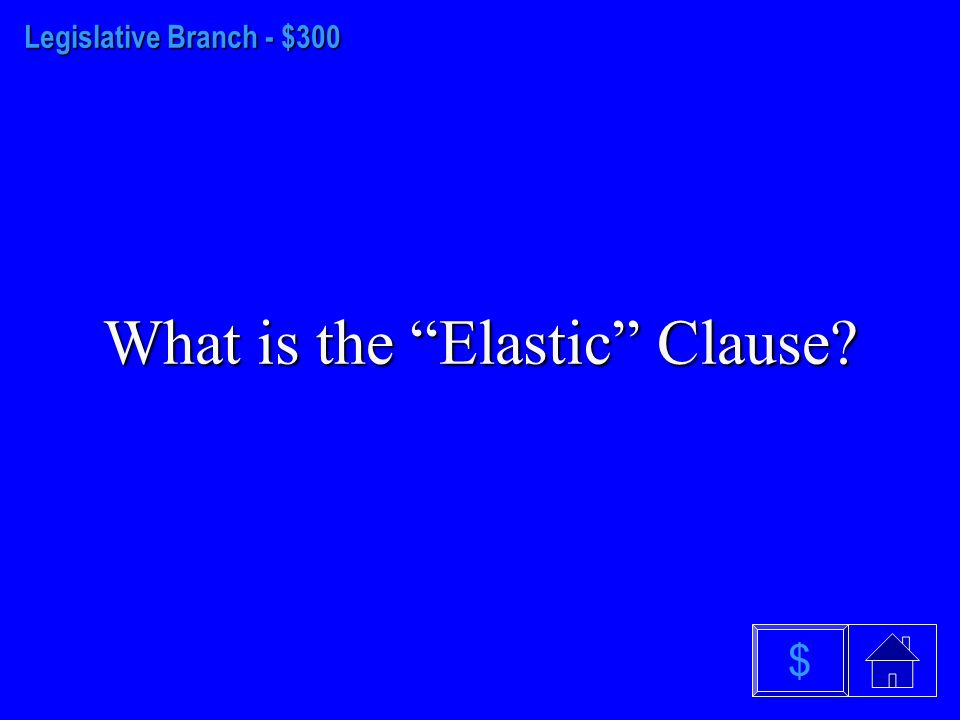 Legislative Branch - $200 What is the U.S Senate $