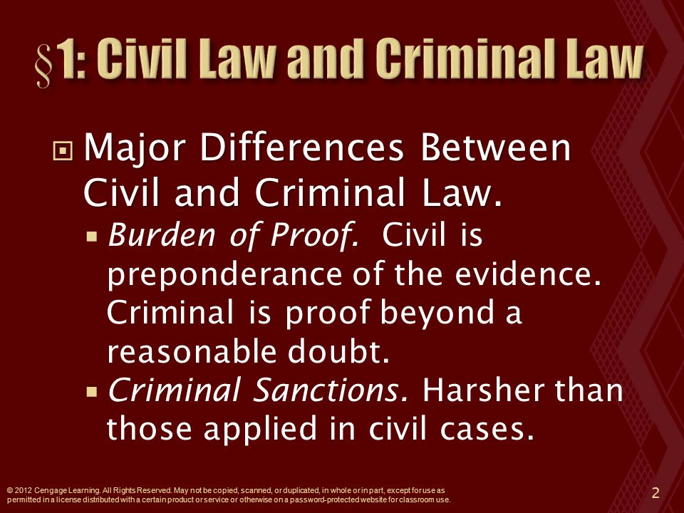  Major Differences Between Civil and Criminal Law.