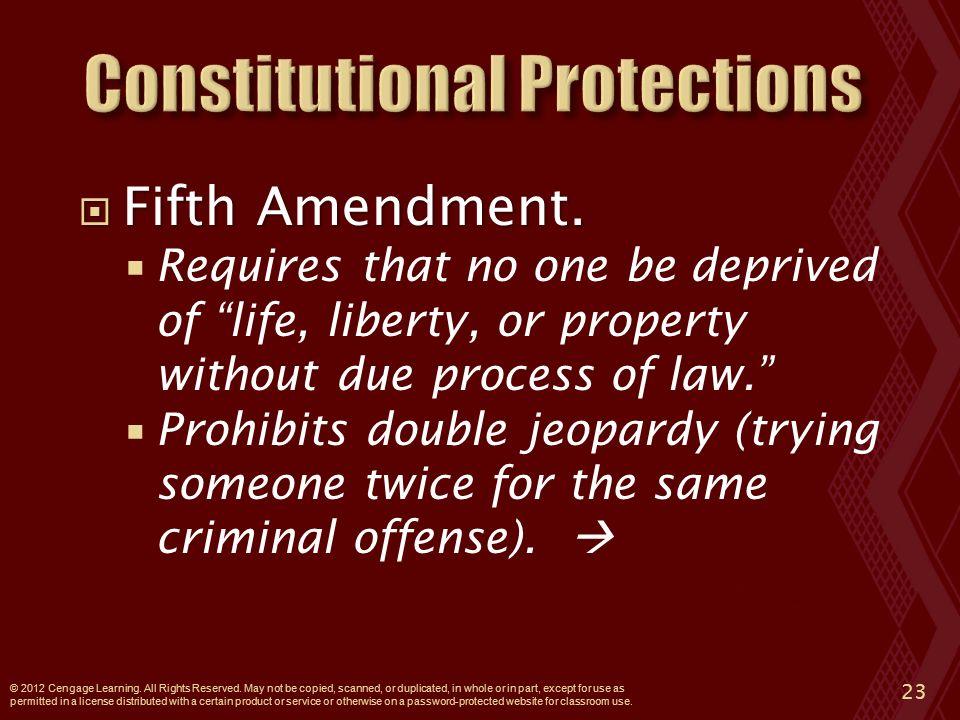  Fifth Amendment.
