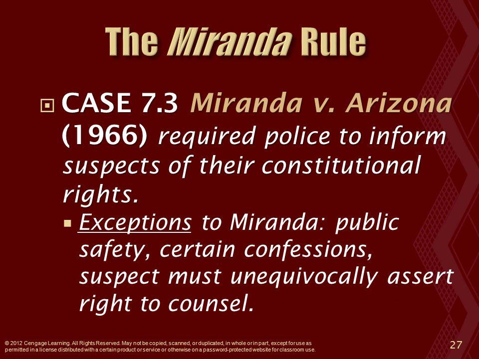  CASE 7.3 Miranda v.